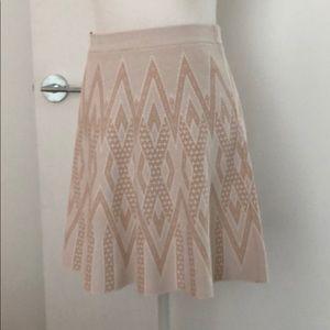 BCBG Alonya jacquard print skirt